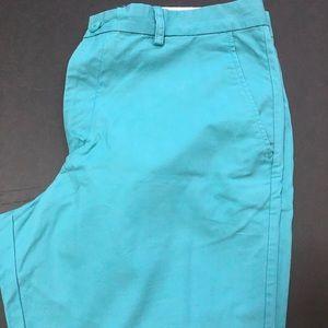 Teal men's Shorts Size 38 Aqua Summer Chino
